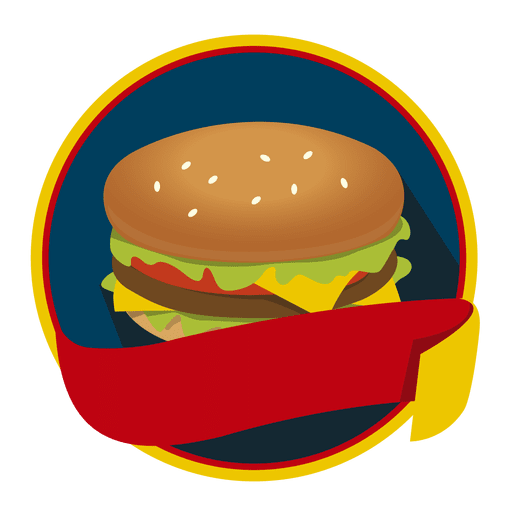 Burger vector png. Logo fast food transparent