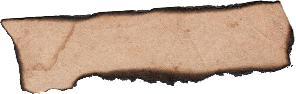 Paper label png. Burnt banner transparent