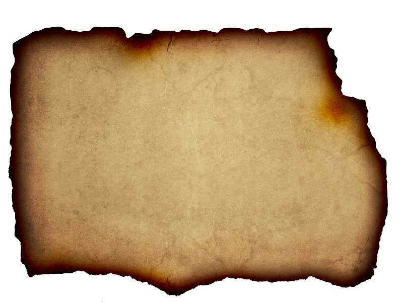Burnt paper background png. Parchment free with edge