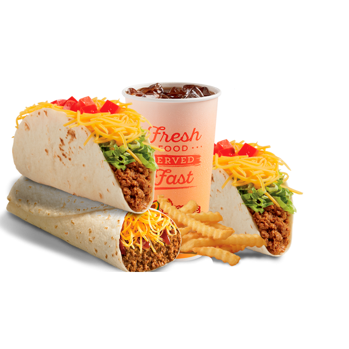 Burrito stock png. Beef double classic taco