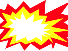 Burst background png. Explosion image vector clipart