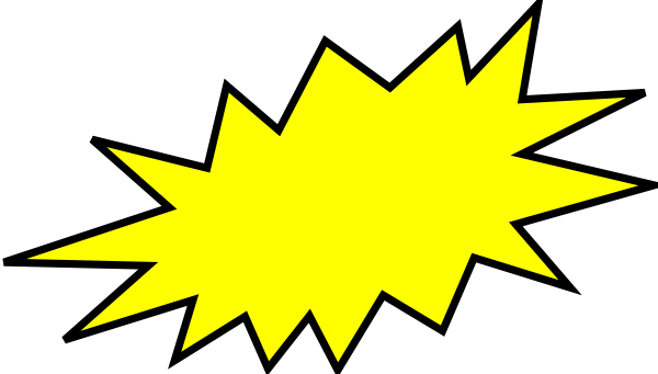 Burst clipart. Yellow clip art at