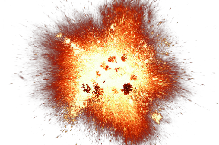 Big explosion with fire. Burst png transparent image royalty free stock