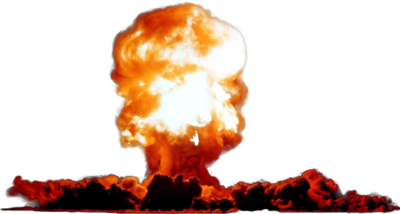 Burst transparent nuclear. Collection of explosion
