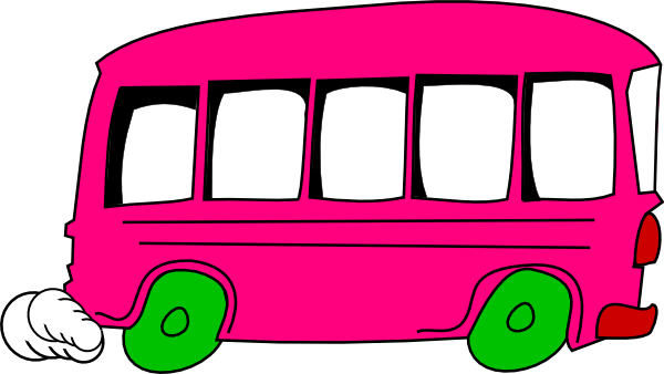 Bus cartoon png. Pink clip art at