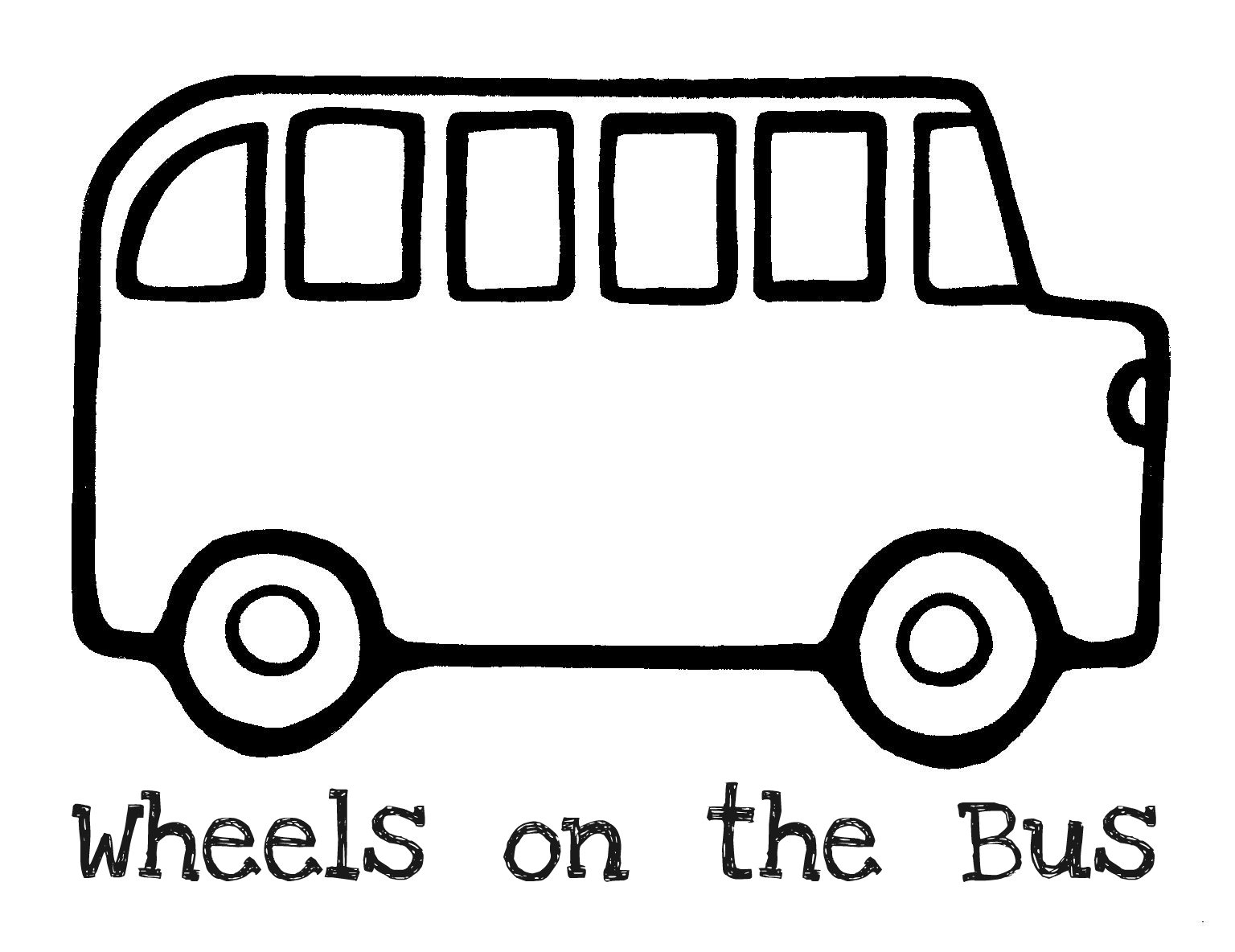 Bus clipart coloring page. School get pages download