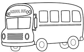 Bus clipart coloring page. Pages