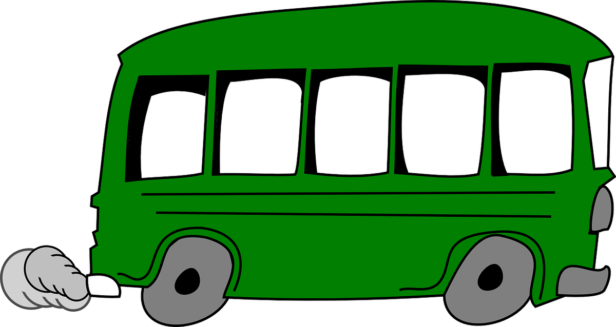 Green transparent free for. Bus clipart knight free library