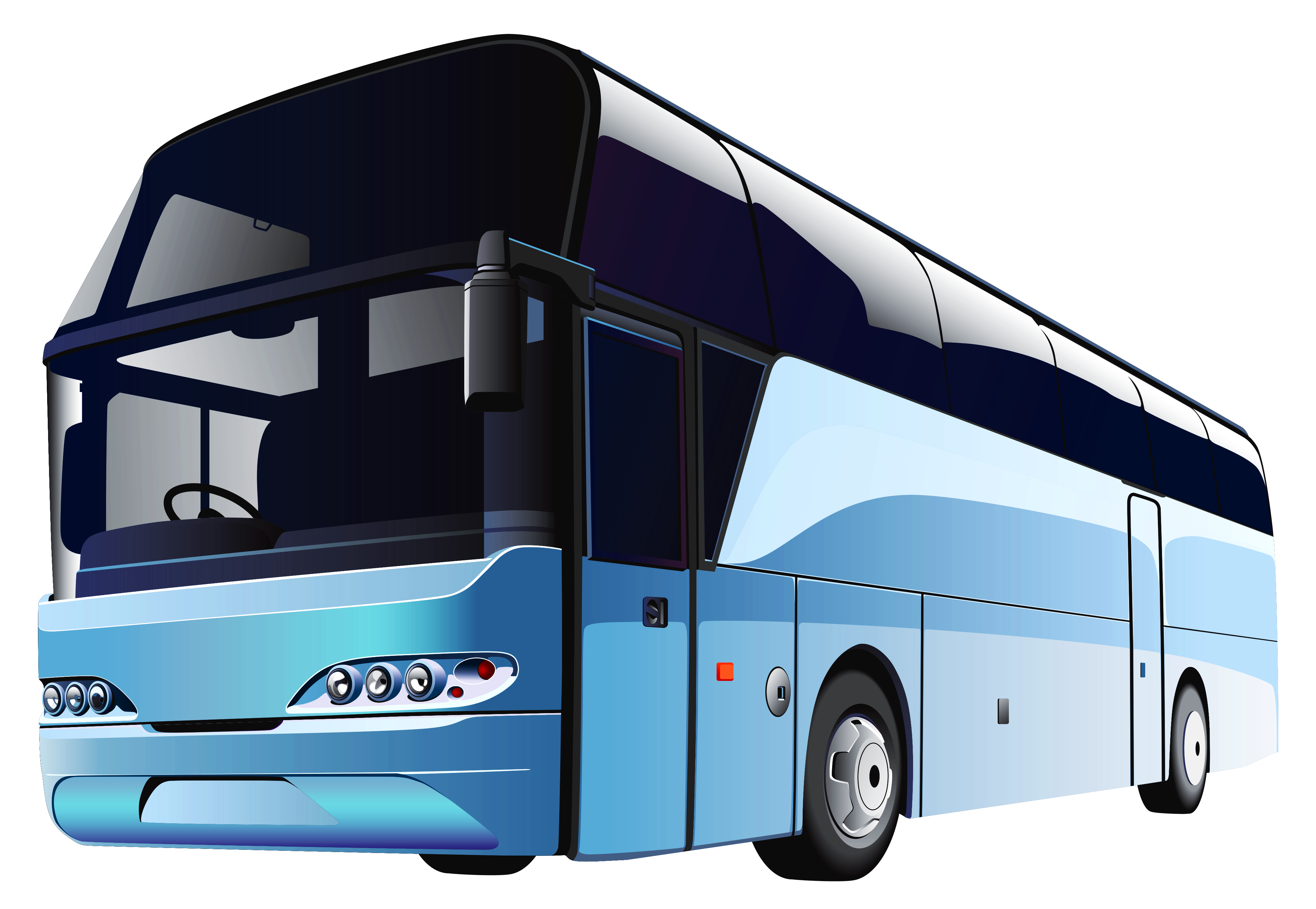 Bus clipart transparent background. Blue png best web