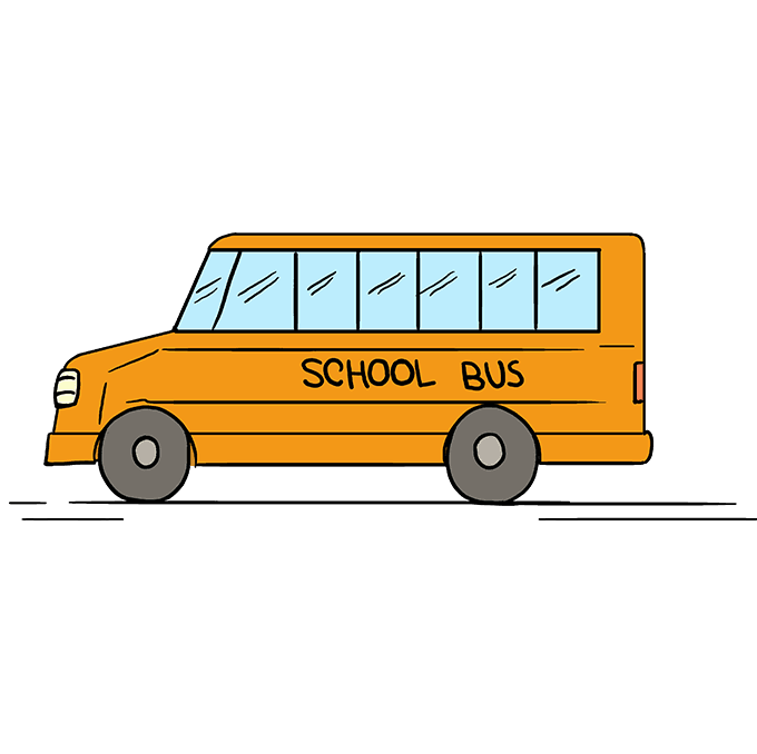 Drawing buses. How to draw a