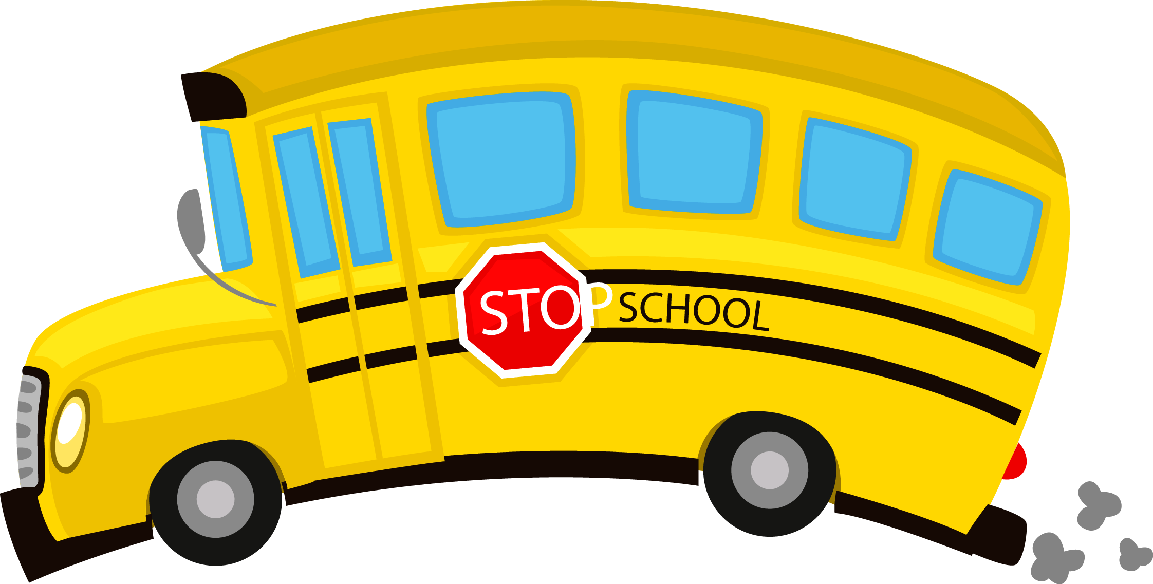 Drawing buses. School bus illustration yellow