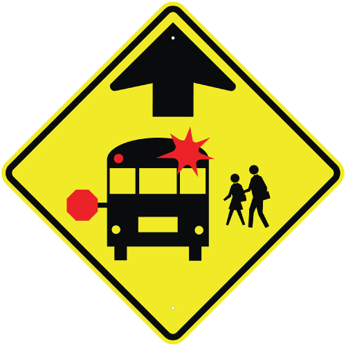 School sign png. Bus stop ahead icon
