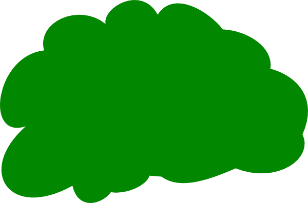 Green download. Bush clipart banner black and white