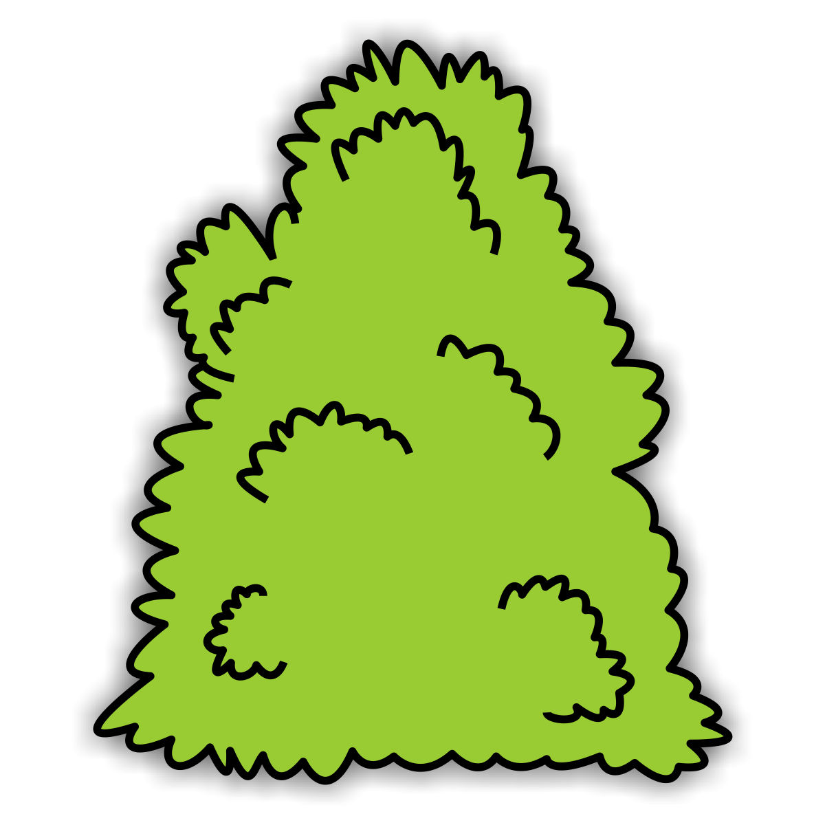 Bushes clipart cotton. Jungle leaves at getdrawings