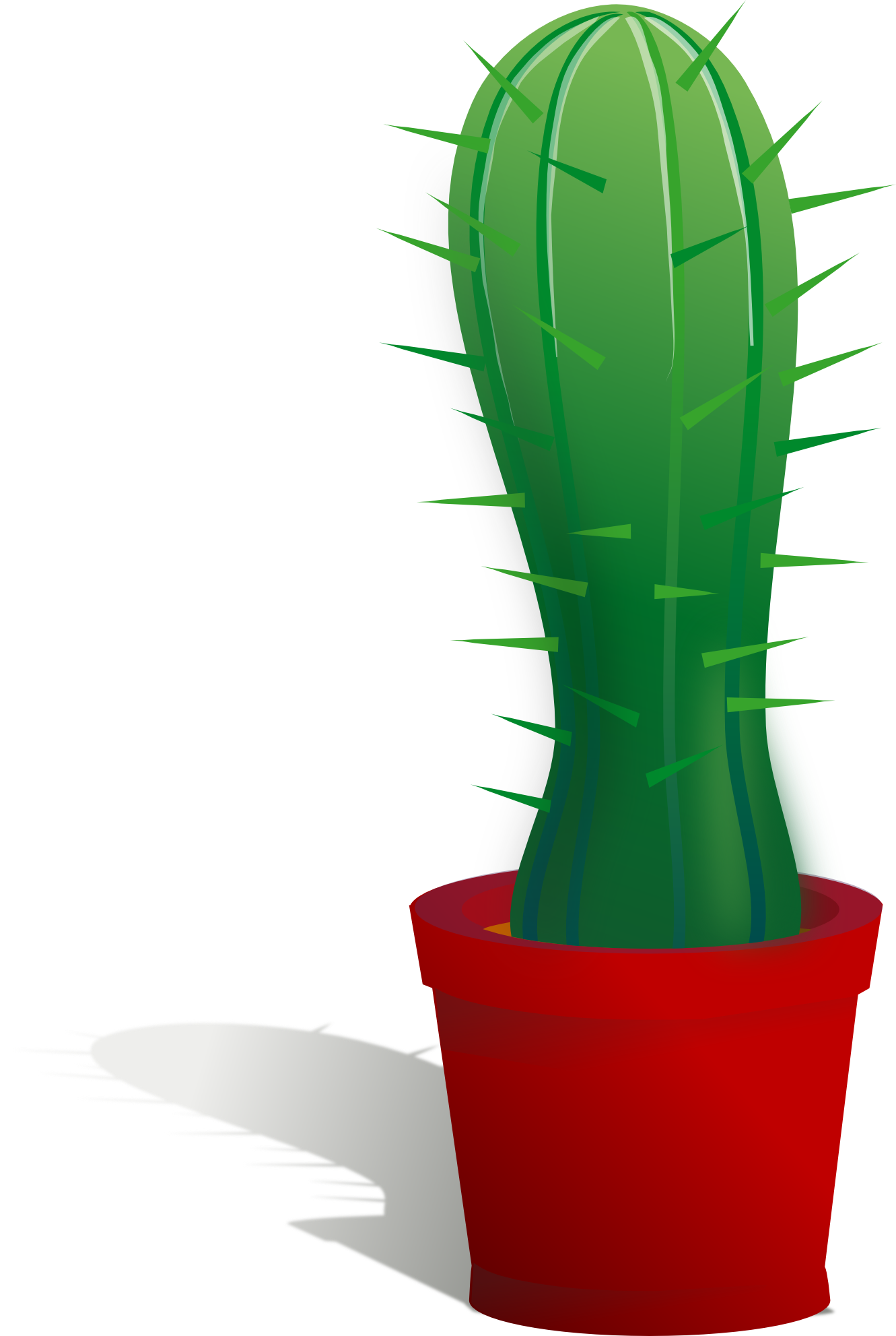 Cactus clipart potted. Free vector download clip