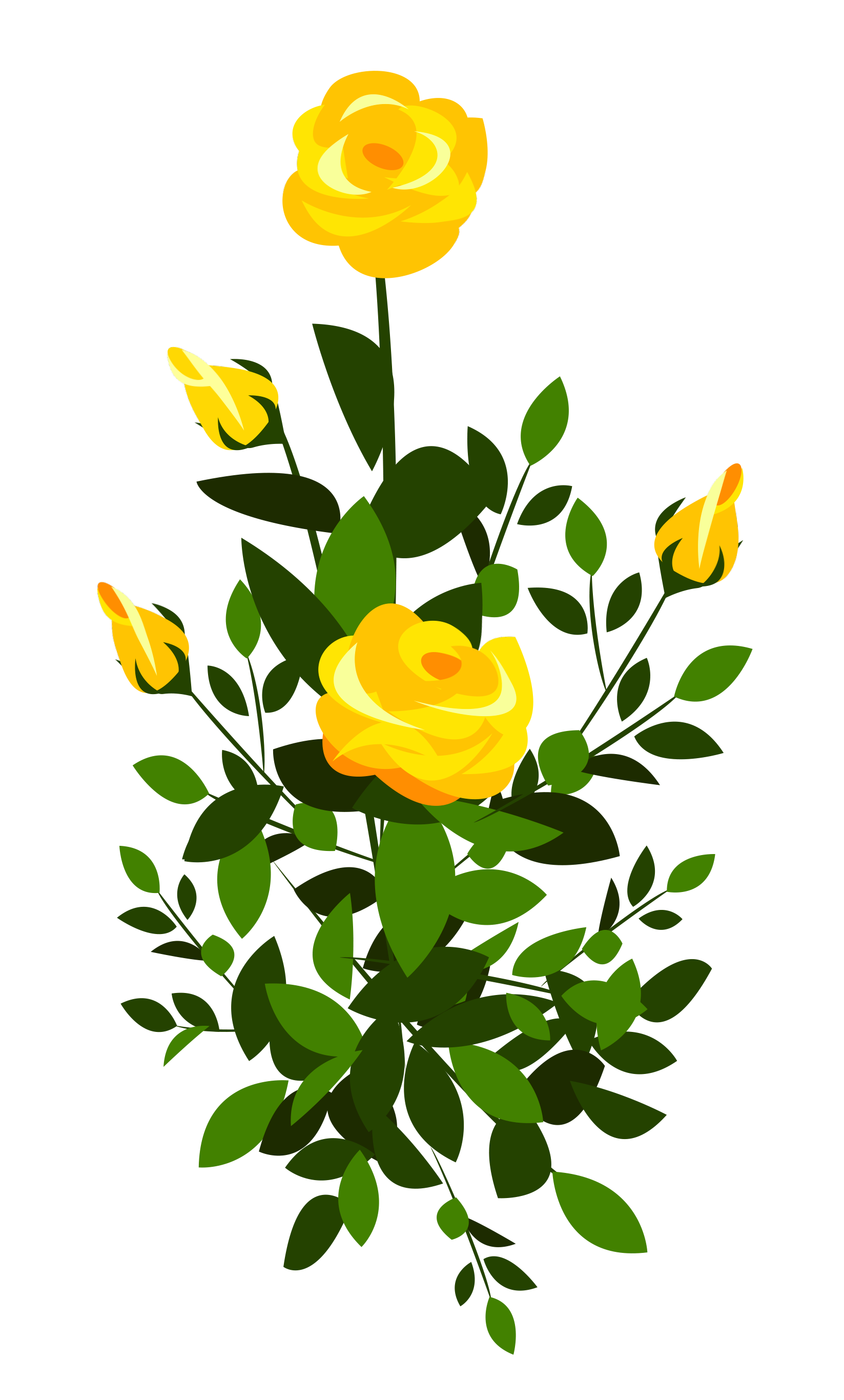 Bush clipart winter. Yellow rose png image
