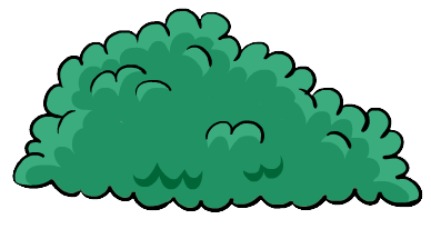 Bushes clipart treee. Nice bush and trees