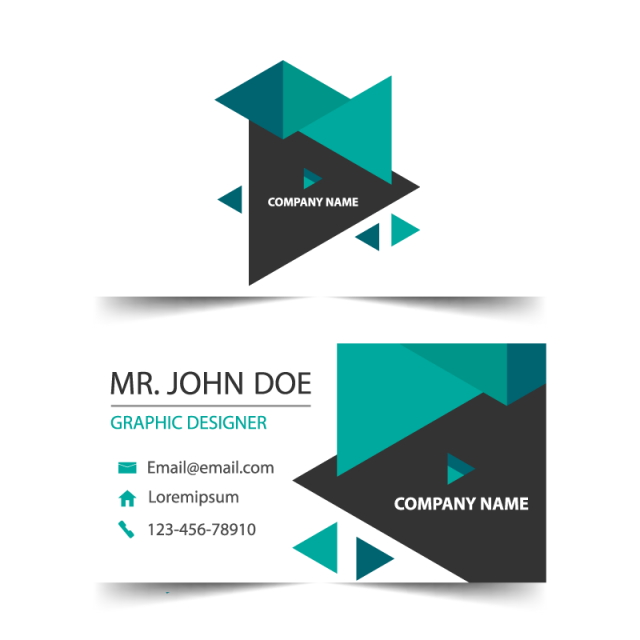 Business card template png. For free download on