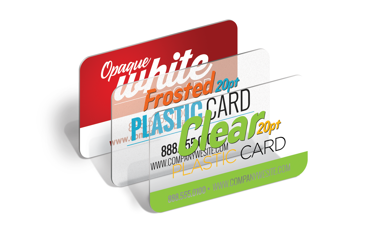 Business cards png. Plastic white