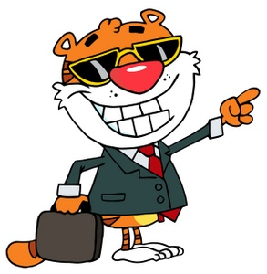 Business clipart salesman. Free image a tiger
