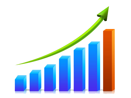 Growth clipart growth rate. Business chart png transparent