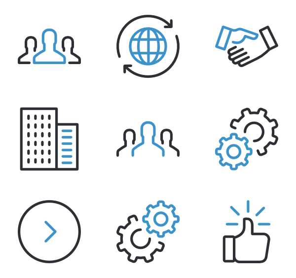 Business icon png. Packs vector svg
