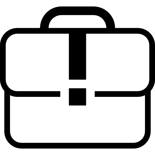 Business icon white png. Case suitcase outline free