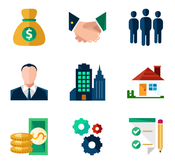 Environment vector business. Icon packs for