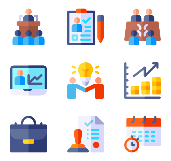Meeting icons free business. Leader vector svg free download