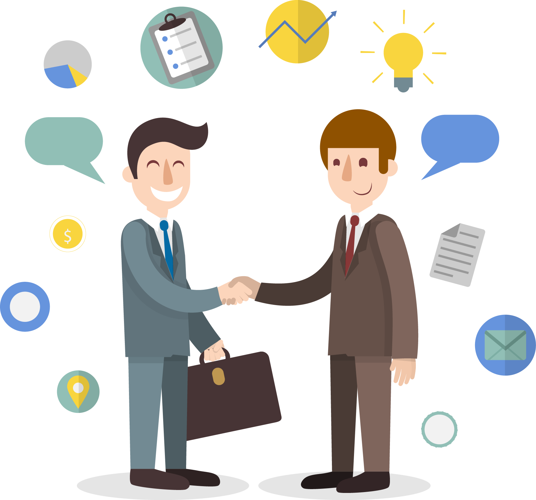 Business meeting png. Transparent free images only