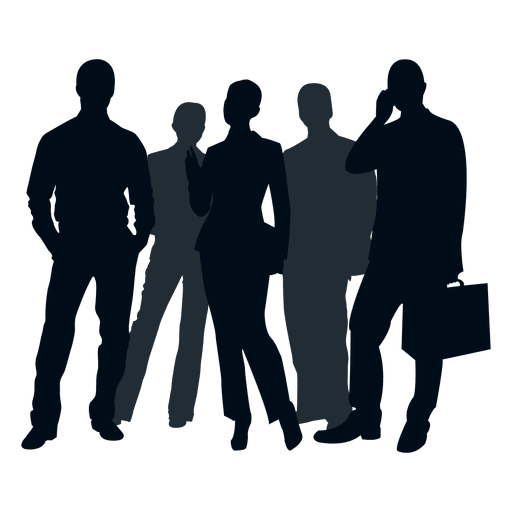 People svg. Business group silhouette transparent
