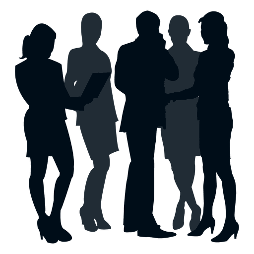 Business people silhouette png. Transparent svg vector colleague