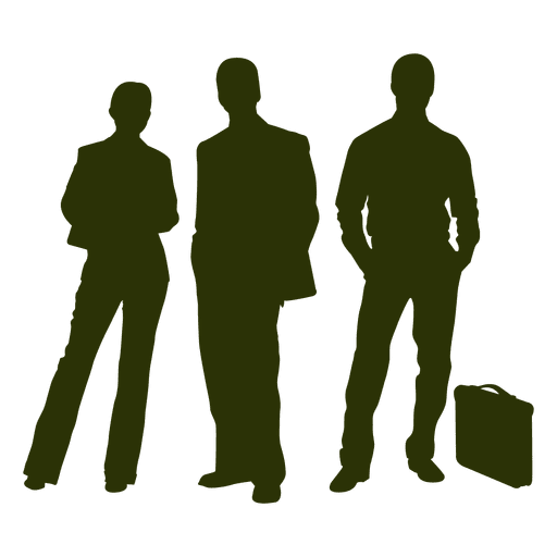 Business people silhouette png. Transparent svg vector