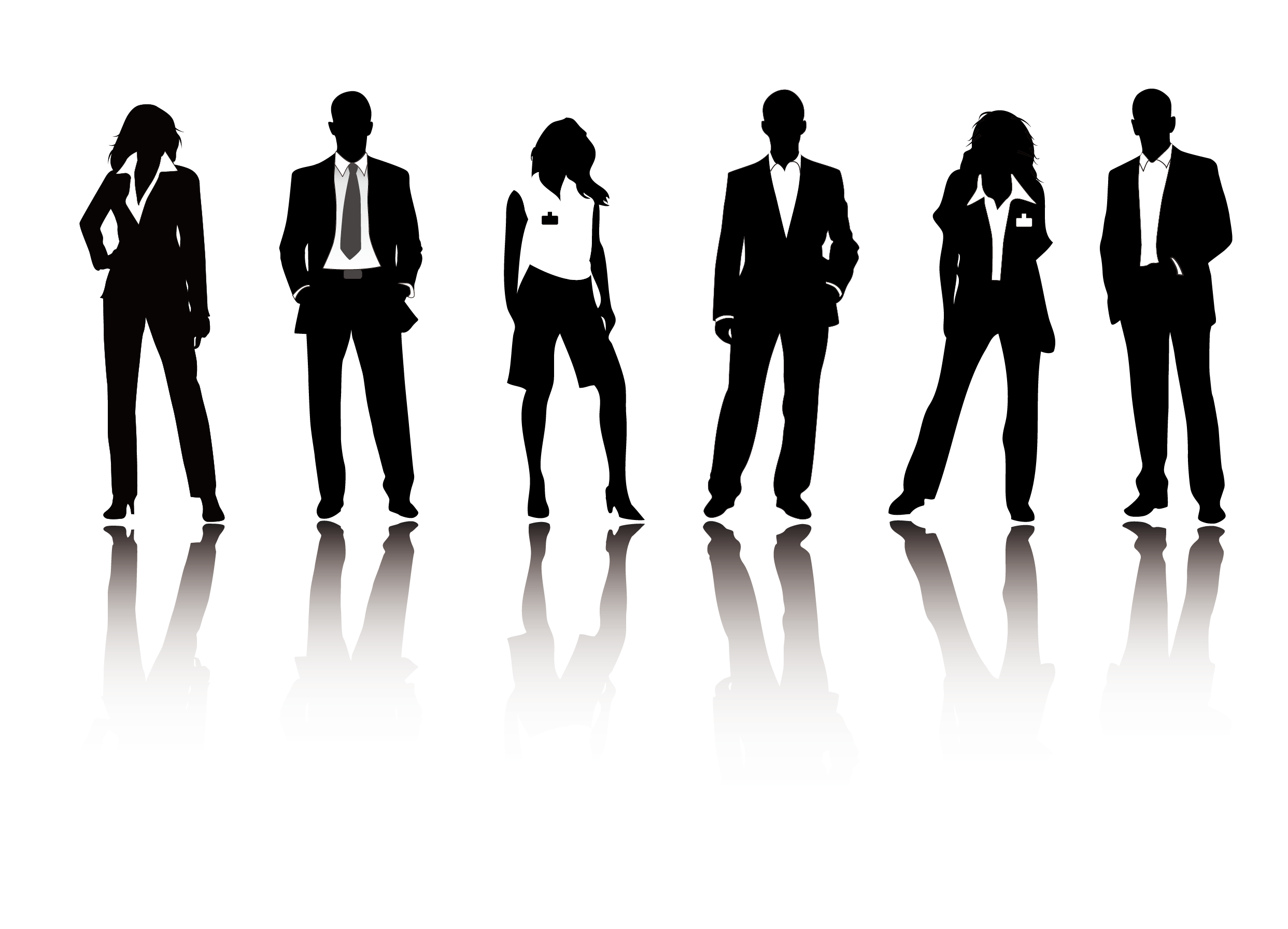 Business people silhouette png. Businessperson illustration silhouettes transprent