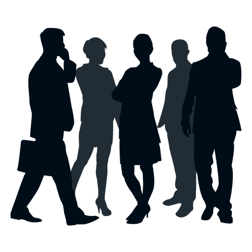 Business people silhouette png. Team group transparent svg