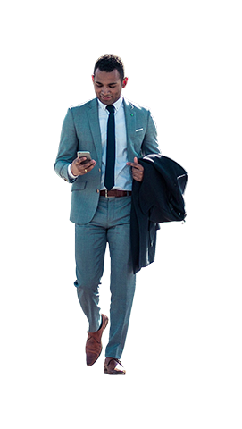Man walking png. Business on phone architecture