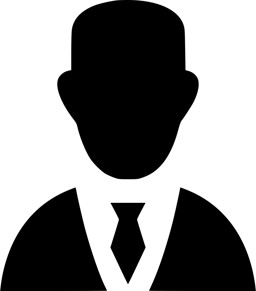 Business person icon png. Man finance online svg