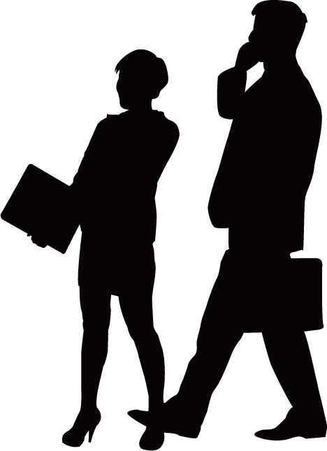 Business person silhouette png. Businessperson conversation people silhouettes
