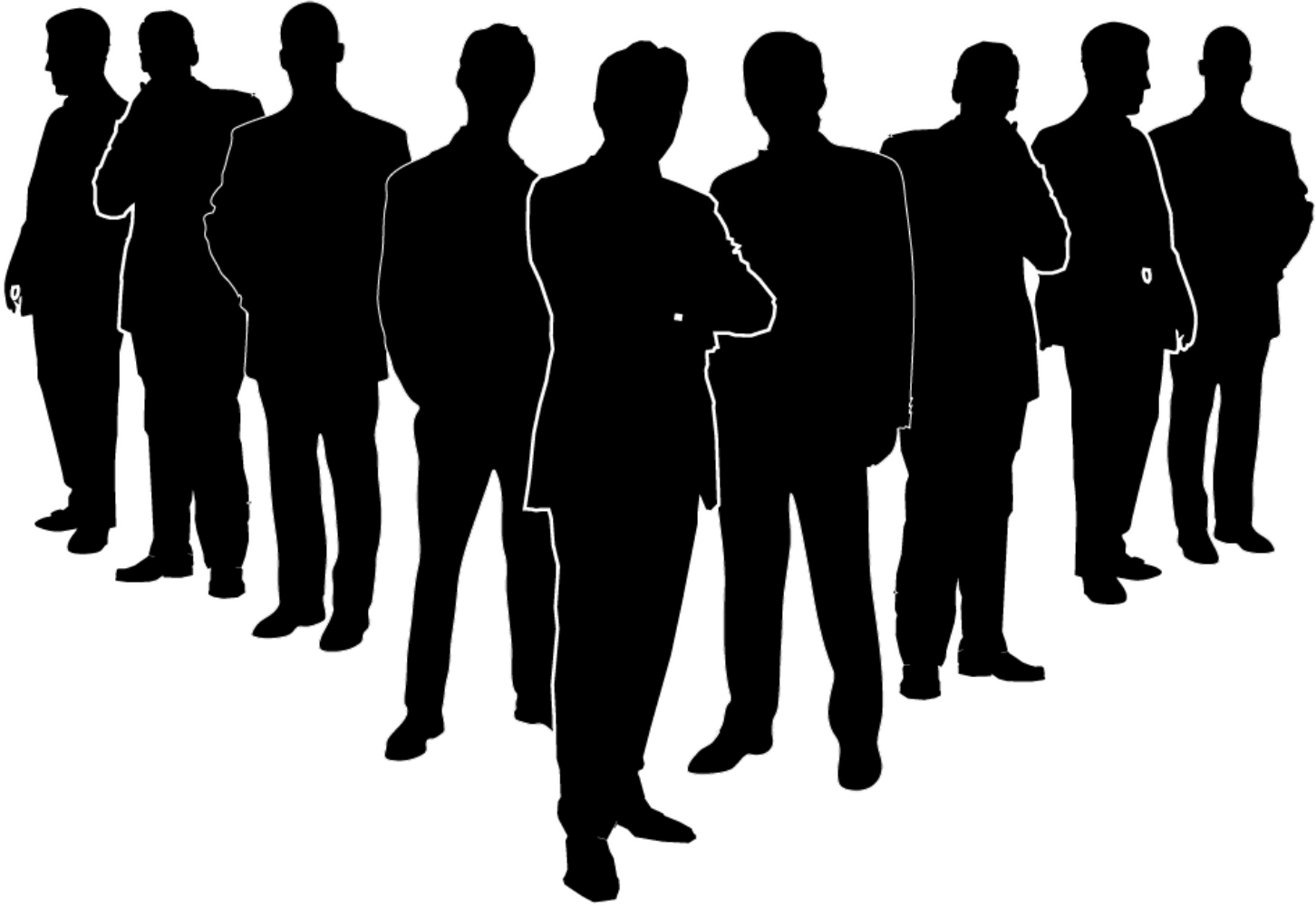 Business person silhouette png. Businessperson senior management the