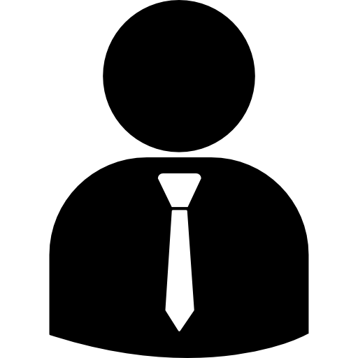 Business person silhouette png. Wearing tie free people