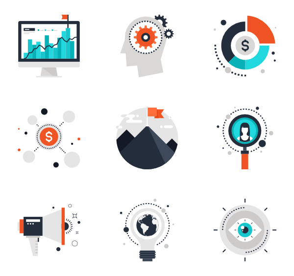 Business png. Corporate premium icons svg