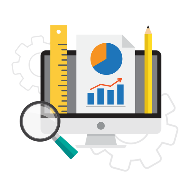 Icon business analysis in. Graphics vector clip art royalty free library