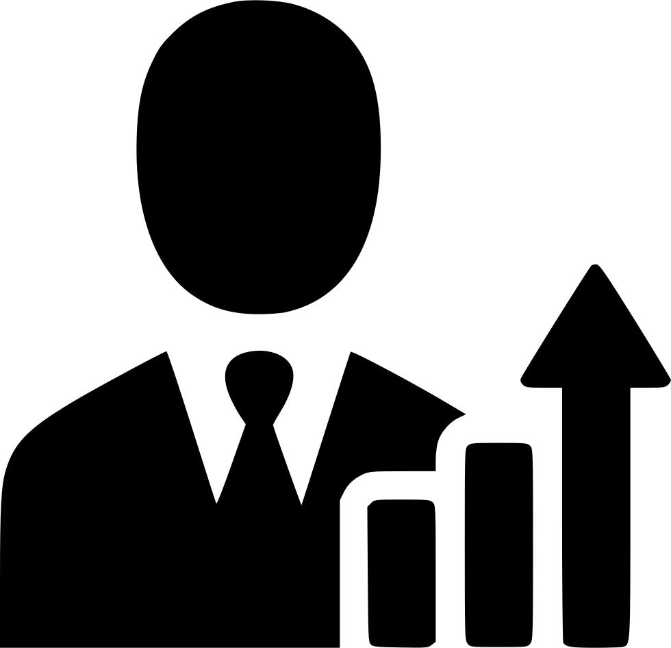 Business png icon. Businessman income increase growth