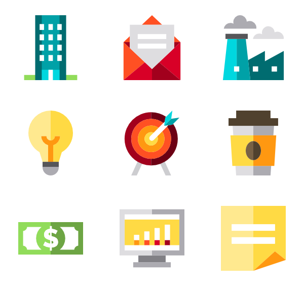 Business collection free icons. Statistics vector png stock