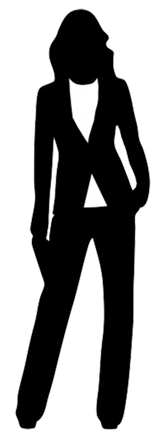 Woman outline png. Female silhouette business