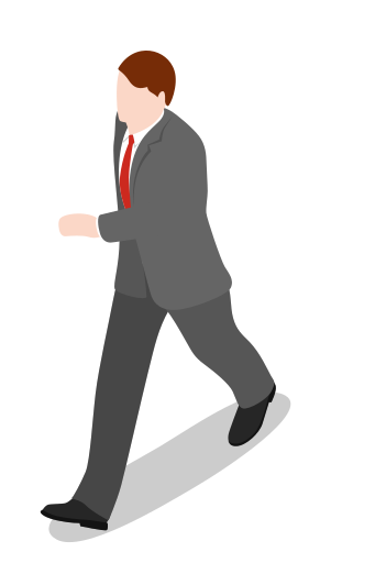Person walking side view png. Executive people man icon