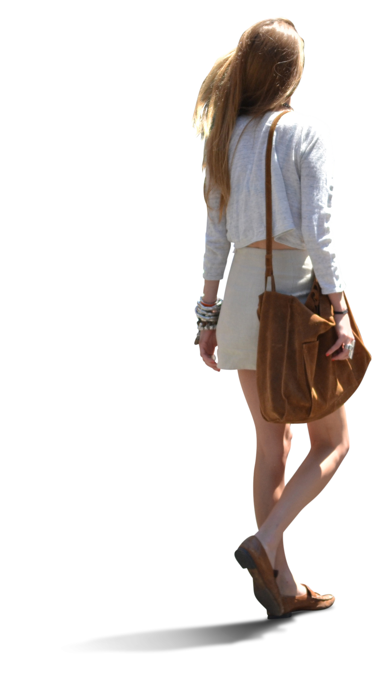 Summer people png. Business woman walking save