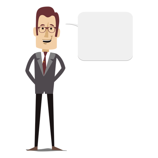 Businessman cartoon png. Text bubble free svgs