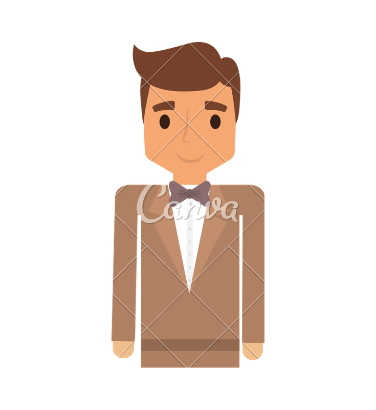 Businessman clipart elegant man. Icon icons by canva