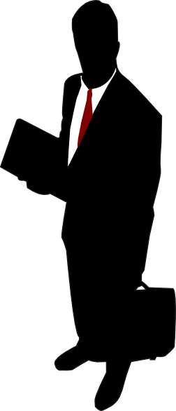 Businessman clipart png. Red tie clip art